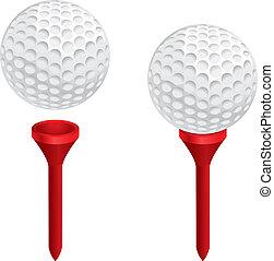 piłka, golfowy trójnik