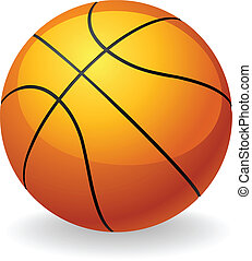 piłka, koszykówka, ilustracja