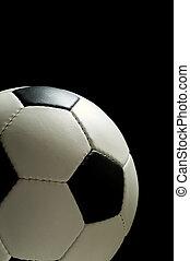 piłka nożna, czarnoskóry, albo, piłka nożna