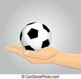 piłka nożna, dzierżawa piłka, ręka