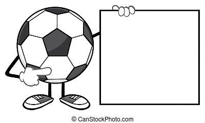 piłka nożna, litera, piłka, maskotka