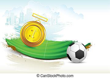 piłka nożna, medal, złoty, smoła