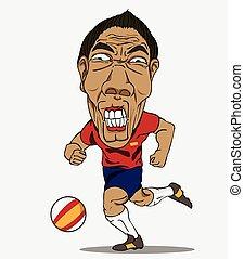 piłka nożna, player., hiszpania