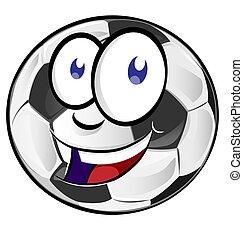 piłka nożna, rysunek, piłka, maskotka