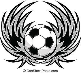 piłka nożna, skrzydełka, szablon