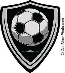 piłka nożna, tarcza, szablon