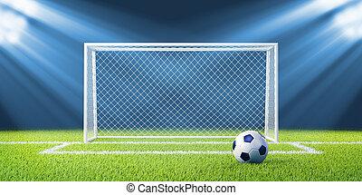 piłka, piłka nożna, stadion, piłka nożna, cele