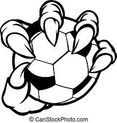 piłka, potwór, zwierzę, piłka nożna, dzierżawa, pazur, piłka nożna