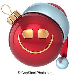 piłka, rok, uśmiech, nowy, boże narodzenie, szczęśliwy
