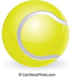 piłka, tenis, ilustracja