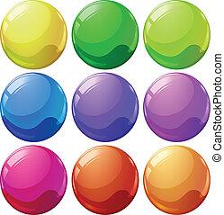piłki, barwny