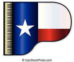piano, bandera, texas, wielki