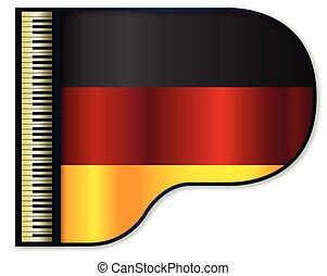 piano, niemcy bandera, wielki