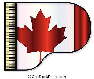 piano, wielki, bandera, kanadyjczyk