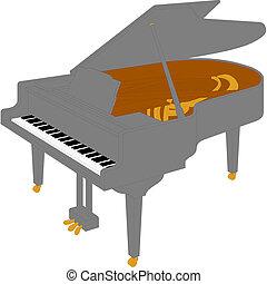piano., wielki