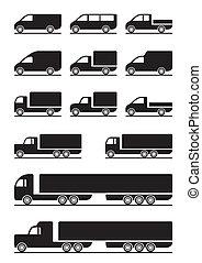 pickups, ciężarówki