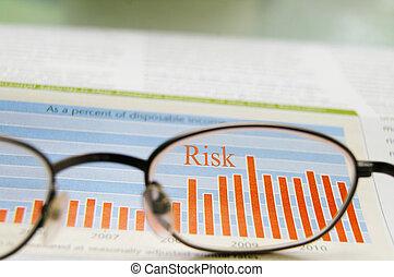 pień, pokaz, okulary, ryzyko, wykres