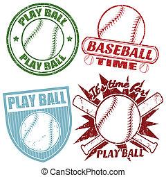 pieczęcie, komplet, baseball