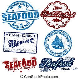 pieczęcie, produkty morza
