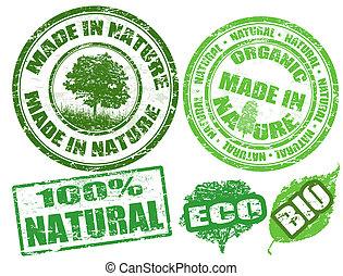 pieczęcie, robiony, natura