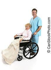 pielęgnować, profil, senior, &, niepełnosprawny