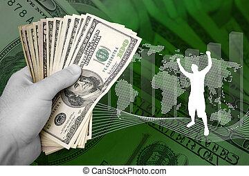 pieniądze, handlowy, powodzenie