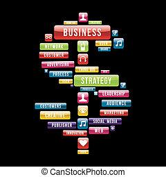 pieniądze, strategia, handlowy znaczą
