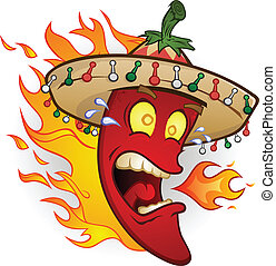 pieprz, litera, gorący chili, rysunek