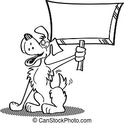 pies, rysunek, dzierżawa, znak