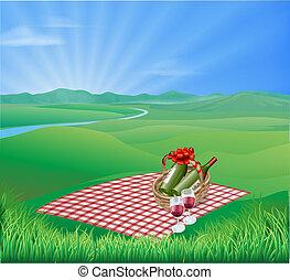 piknik, krajobraz