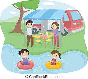 piknik, rodzina