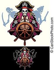 piraci, maskotka, zmarły