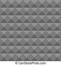 piramida, piana, pattern., ściana, struktura, seamless, soundproofing., wektor, akustyczny, geometryczny
