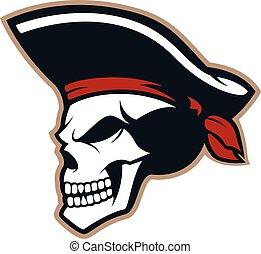pirat, czaszka, maskotka