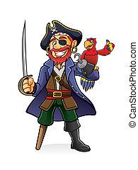 pirat, papuga