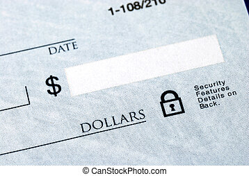 pisać, kwota, dolar, czek
