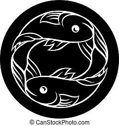 pisces, fish, astrologia, zodiak, znak
