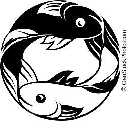 pisces, fish, zodiak, znak