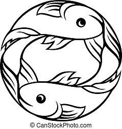 pisces, zodiak, fish, znaki