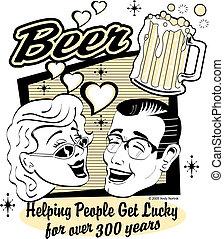 piwo, sztuka, zacisk