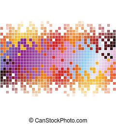 pixels, abstrakcyjny, tło, barwny, cyfrowy