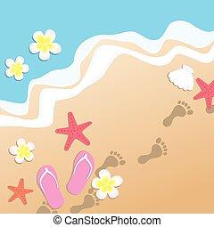 plaża, piaszczysty