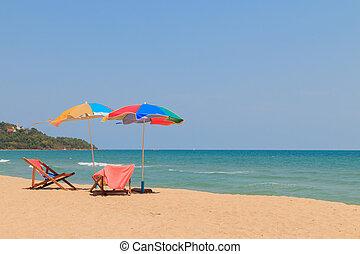 plażowe krzesło, parasol