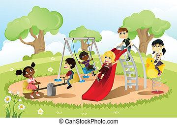 plac gier i zabaw, dzieci