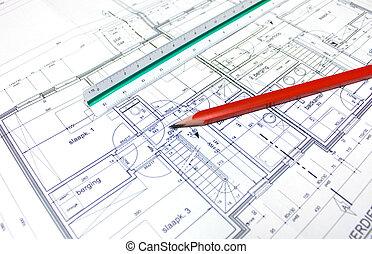 plan, architekt