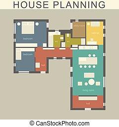 plan., dom, architektoniczny