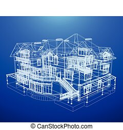 plan, dom, architektura