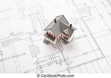 plan, domy
