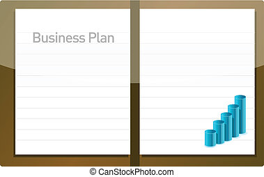 plan, wykres, handlowy