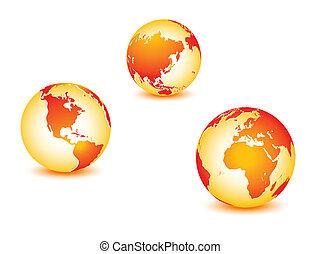 planeta, globalny, ziemia, świat